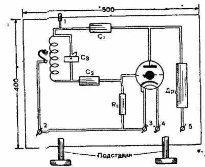 Общий вид генератора токов