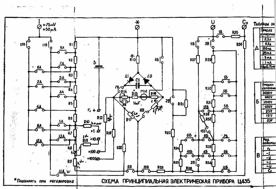приборы для проверки схема электрическая
