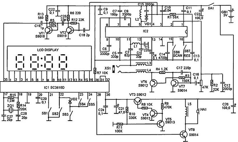 Схема радиоприемника.