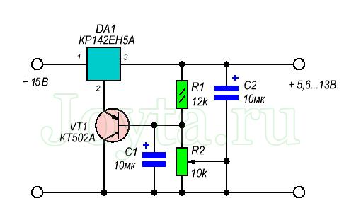 stabilizator-kr142en5a-opisanie-xarakteristiki-i-sxema-vklyucheniya-5
