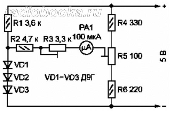 Электронный термометр, схема