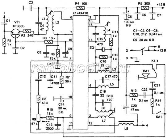 Схема передатчика радиостанции