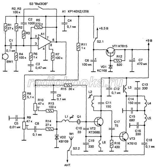 Схема передающего тракта ЧМ-