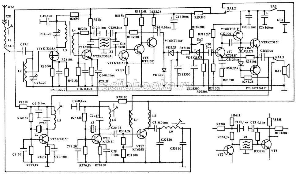 транзисторе VT11 по схеме,