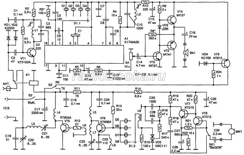 Схема мобильной СВ-