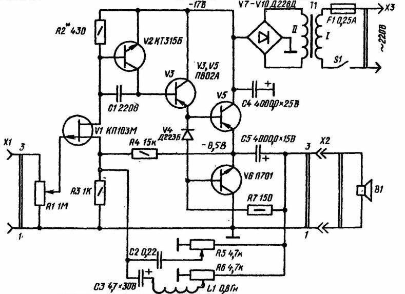 Схемы на двух транзисторах схемы.