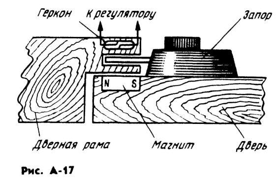 Геркон (SF1 на схеме) включен