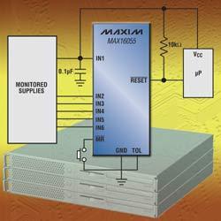 Новый 6-канальный супервизор питания микропроцессоров MAXIM - MAX16055