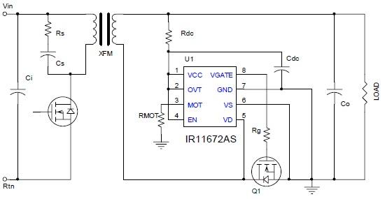 IR11672A – контроллер синхронного выпрямителя для AC-DC преобразователей