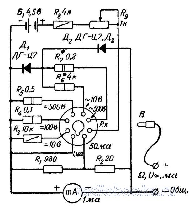 Схема простейшего авометра