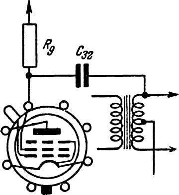 """При повреждении первичной обмотки междулампового трансформатора приемника  """"Родина-47 """" эта обмотка выключается из..."""
