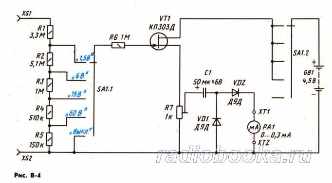 Приставка-вольтметр переменного тока для авометра Ц-20 » РадиобукА