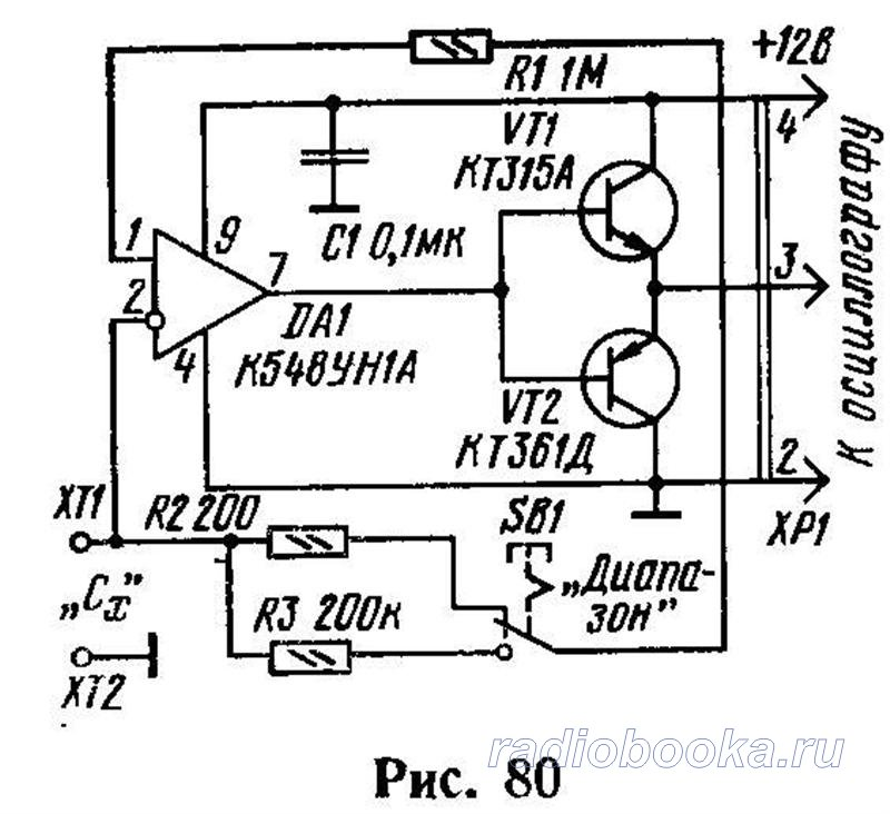емкость конденсатора или