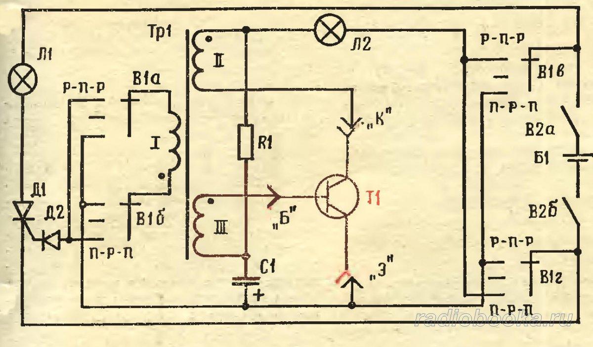 пробник на светодиодах схема