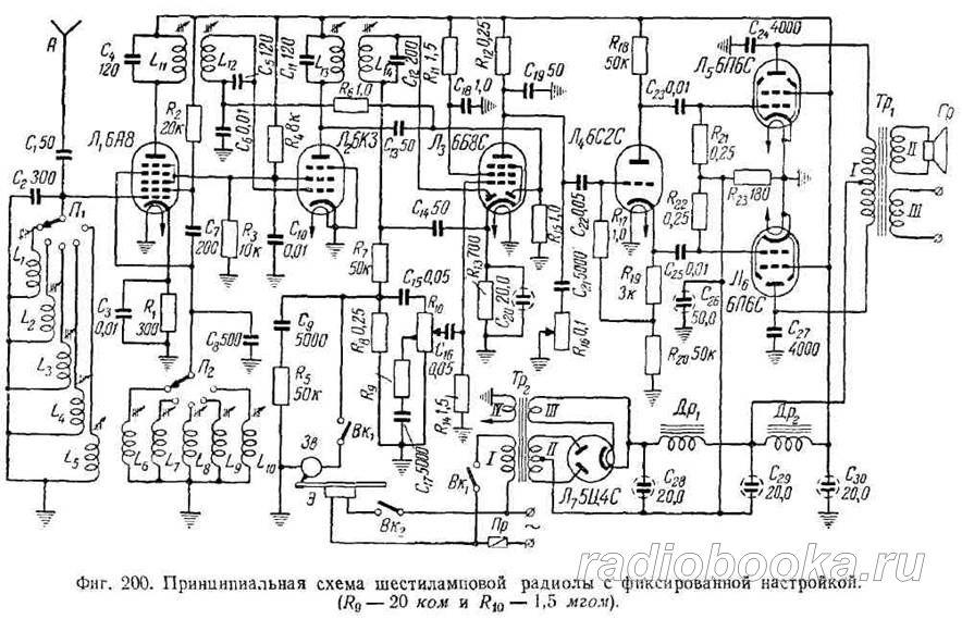 Ламповый стерео радио схема