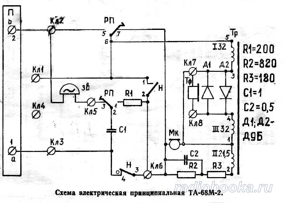 Схема ТА 68М-2