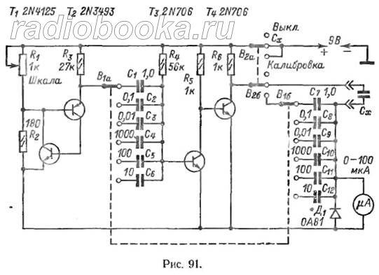 схемы измерителей ёмкости конденсаторов