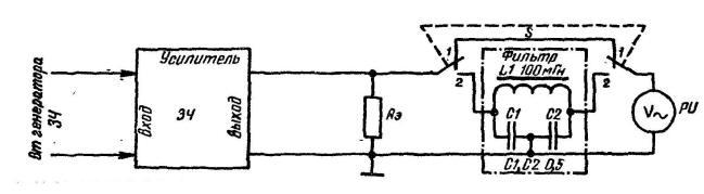 Рис. 106. Схема измерения коэффициента гармоник